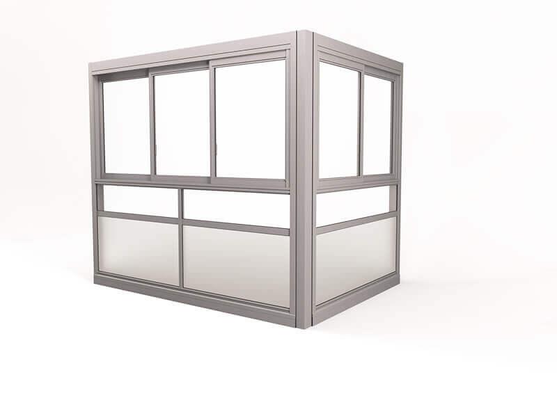 <span>Twin® Sight </span>Verglasungssystem mit gerahmten Fenstern.