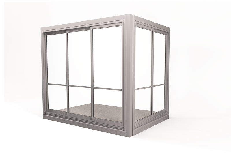 <span>Twin® Geschosshöhe </span>Verglasungssystem mit gerahmten Fenstern vom Fußboden bis zur Decke