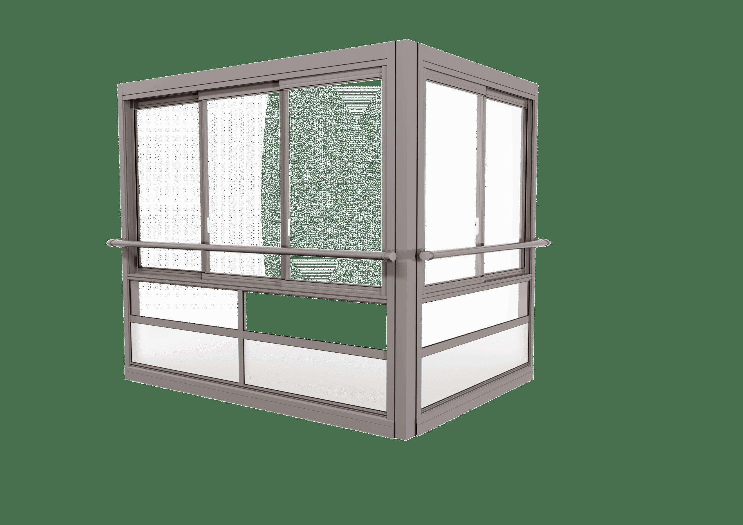 <span>TwinView™ Air </span>Verglasungssystem mit großen gerahmten Fenstern