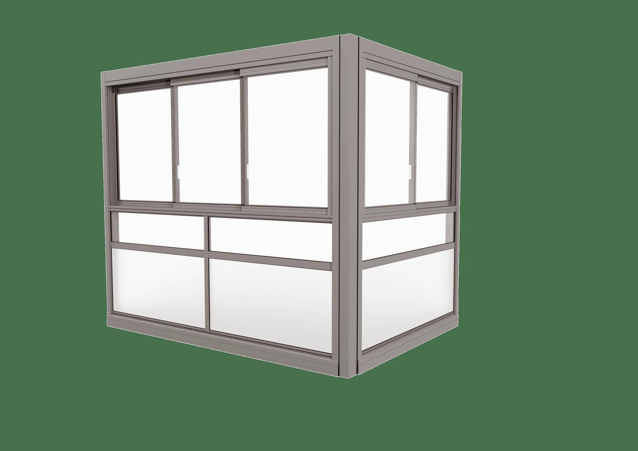 <span>TwinView™ Sight </span>Verglasungssystem mit gerahmten Fenstern.